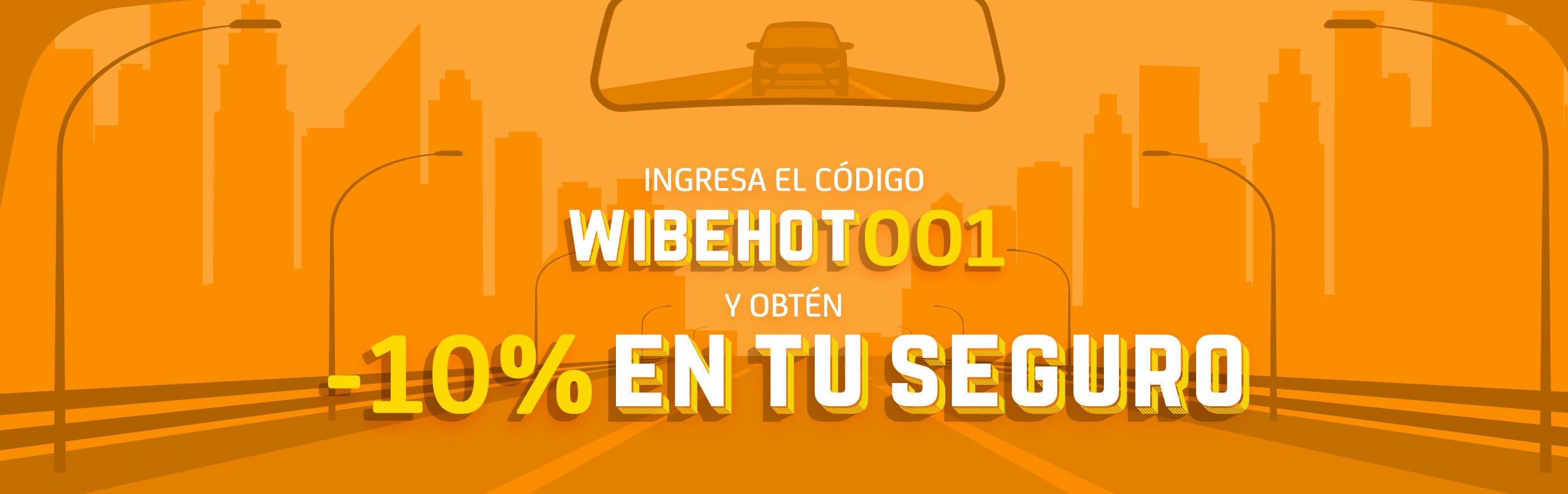 10% de descuento en tu seguro wibe durante el Pre Hot Sale