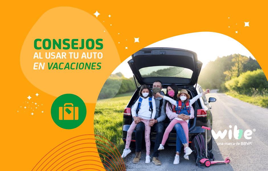 consejos al usar tu auto en vacaciones, familia durante vacaciones en auto
