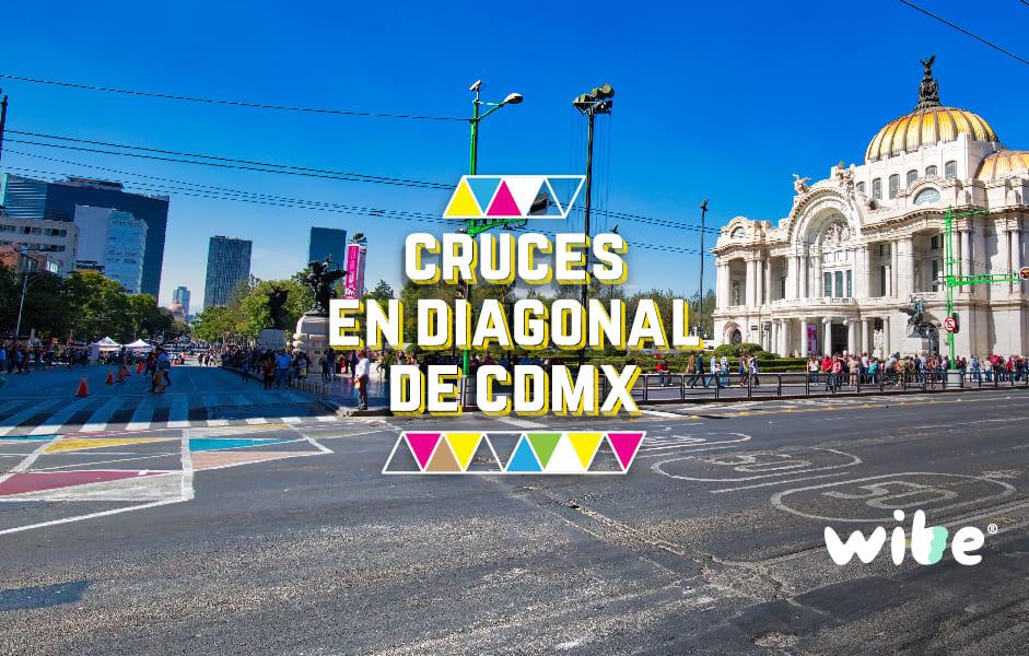 cruces en diagonal, nuevas cebras peatonales en cdmx, cruces peatonales en forma de x, cruces más peligrosos de la ciudad de méxico