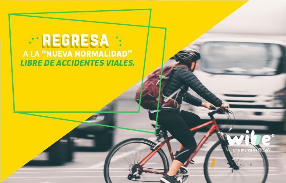evita accidentes viales en la nueva normalidad, movilidad post cuarentena, cómo evitar los accidentes de auto si eres ciclista, cómo evitar accidentes de auto si manejas un auto, qué hacer en caso de un accidente en bicicleta