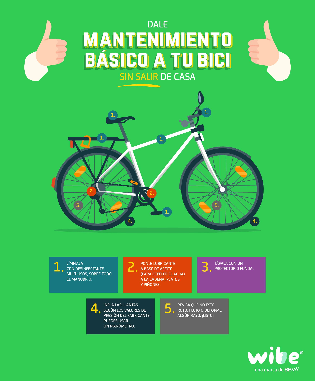Infografía: Tips básicos para dar mantenimiento a tu bici