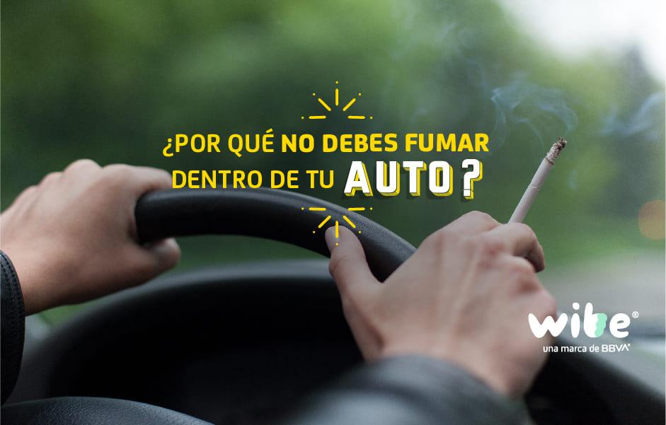 riesgos de fumar en tu auto, por qué no debes fumar dentro de tu auto, consecuencias de fumar en el auto, distracciones más comunes al conducir