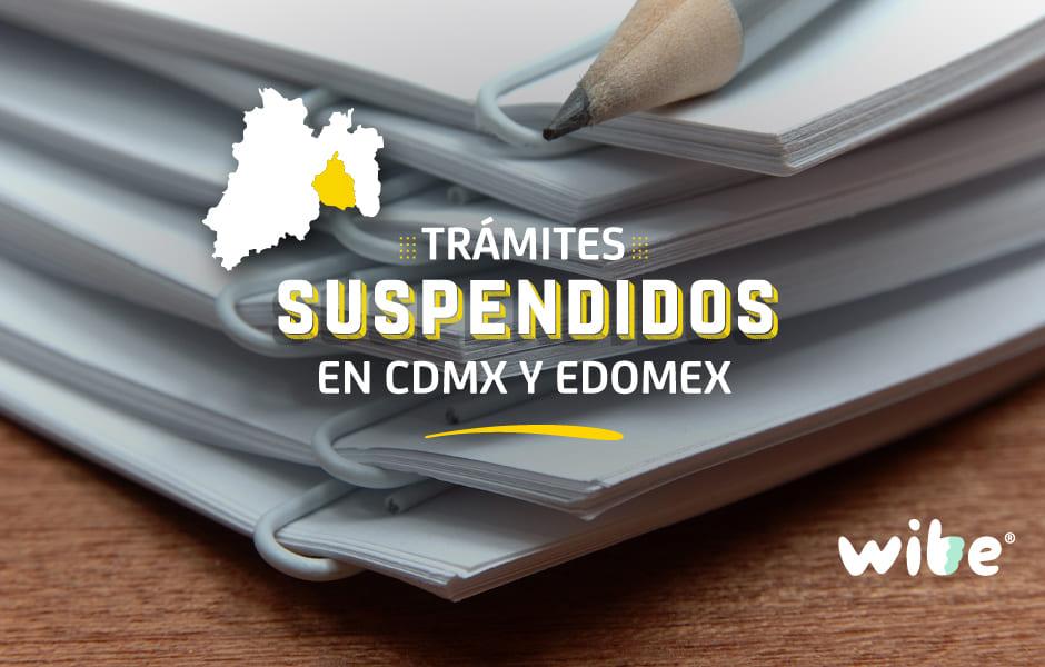 trámites que se suspendieron en la CDMX y Estado de México, medidas para evitar la propagación del coronavirus, atención al público en ventanilla, quédate en casa