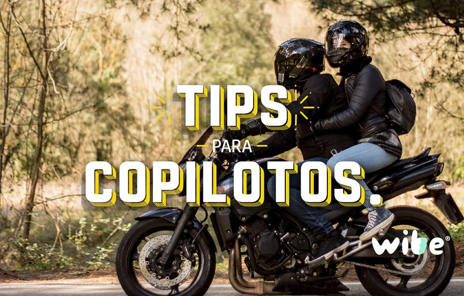 tips para copilotos, consejos de seguridad al viajar en moto, tips para viajar en motocicleta